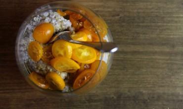 Chia-Quinoa-Mandel-Pudding, zwei mal anders